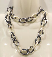 Collier Perle d'eau douce Mélange de culture 90cm sans fin - 50019