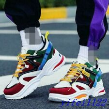 Vintage Dorky Dad 2019 Men's Lace Up Breathable Multi Color Shoes Sneakers US10