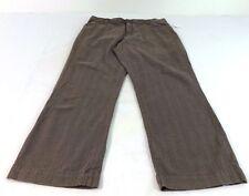 7a229ae1a1b4 Lee Donna Comfort Misto Cotone Marrone a Righe Pantaloni Casual Taglia 14