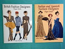 New ListingBritish*Italian & Spanish*Lot*Full Color Paper Dolls*Tom Tierney*Uncut Original