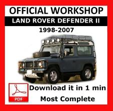 >> OFFICIAL WORKSHOP Manual Service Repair Land Rover Defender 1998 - 2007