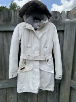 Columbia Down Insulated Hood Jacket Size XS Small Omni Heat Parka Coat Faux Fur