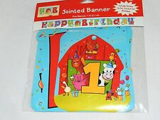 Barnyard Bash/ Farm Animals 1-.Jointed Banner 7ft.L For 1st, 2nd and 3rd B-Day