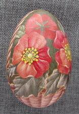 Goose Pysanka, Real Ukrainian Easter Egg, Pysanka, Flowers in Basket W7