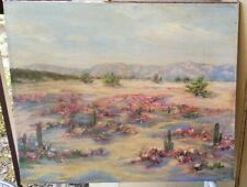 Flowers, Cacti, Desert, and Mountains-Oil-1930's-By Stonecypher-High Quality