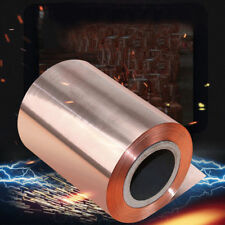 """0.1mm Pure Copper Metal Foil Sheet Conductive Smooth Cut Roll Tape 39"""""""