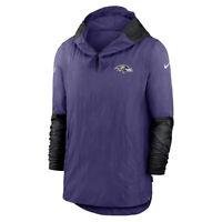 New 2020 NFL Baltimore Ravens Nike Sideline Pregame Player Quarter-Zip Jacket