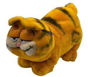 "VTG 1981 Garfield Cat plush orange black whiskers stuffed animal 13"" standing"