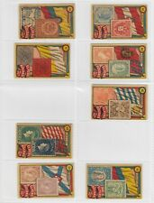 Peru Roldan- Flags and Stamps x 8 Cards (Lot 5)