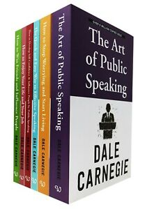 Dale Carnegie Personal Development 6 Books Collection Set Art of Public Speaking
