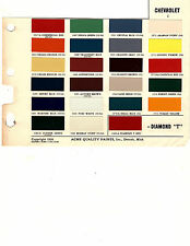 1950 1951 1952 1953 1954 1955 1956 TO 1958 CHEVROLET TRUCK PAINT CHIPS 5056 ACME