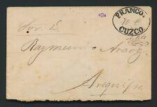 More details for 1884 peru cover chile occupation cuzco-arequipa-rare franco cuzco 10c handscript