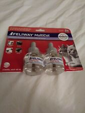 New listing 2 Pack Feliway Multicat 30 Day Refill Diffuser 48ml Exp 03/2021
