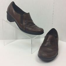 cbf46fe213d Clarks Partridge Loafers Shes Women s Size 8M Brown Pull On Leather Shoes  89488