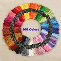 8m Skeins Multicolored for Embroidery Cross Stitch Yarn Skein Knitting DIY