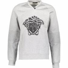 VERSACE MEDUSA LEATHER PATCH Sweatshirt Hoodie Top SZL New