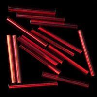 Free Shipping 12mm TOHO Bugle beads Large 500 gram bag lot-Transparent Red
