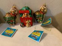 Gary Patterson Vintage Cat And Dog Glass Ornaments Lot (3)