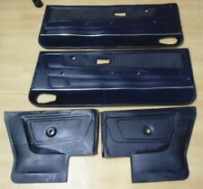 79 93 VW RABBIT CABRIOLET MK1 OEM  NAVY BLUE DOOR PANELS FRONT & REAR  SET 4