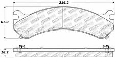 Disc Brake Pad Set-4WD Front Stoptech 309.07840