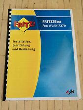 FRITZ!Box Fon WLAN 7270 Handbuch Anleitung: Installation, Einrichtung, Bedienung