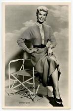 1950s Vintage movie star film DORIS DAY Dutch photo postcard