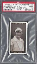 1928 W A & A C CHURCHMAN - #36 MISS BETTY NUTHALL - LAWN TENNIS - PSA 7.5