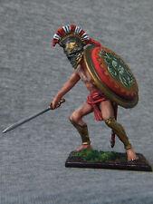 Spartan warrior on the shield of Minerva. Elite tin soldiers  54 mm.