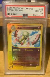 Xatu Skyridge Reverse Holo 35/144 PSA 10 Gem Mint POP 22 Pokemon 2003