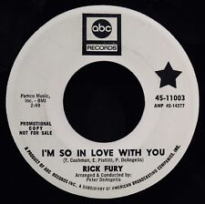RICK FURY-I'm So In Love With You & When I Look At You-Rare Promo 45-ABC #11003