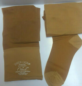 Vintage Opal Support stockings Beigetone Size C 10.5 -11 Nylon Lycra 1974 Rexel