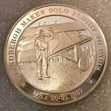 """USA History 🇺🇸 Franklin Mint 1.2 OZ Sterling Silver """"Year 1927"""""""