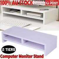 Desktop Monitor Stand LCD TV Laptop Rack Computer Screen Riser Storage Shelf