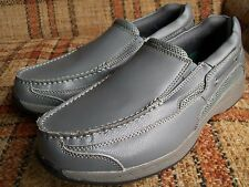Dr. Scholls Mens 9.5 3E Gray Slip-On Moccasin Loafers 42J-6B