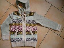 (211) NOLITA POCKET girls cappuccio Sweatjacke con aufgenähtem parte a maglia gr.116