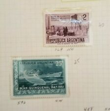 Argentina, SC#596 and #769, 2 Singles, MNH, Nice Set! Already Mounted!