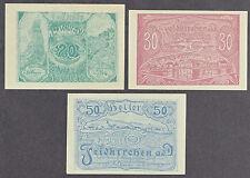 Feldkirchen (OÖ) -Gemeinde- 20 H, 30 H und 50 Heller grünes Papier (JP 197 c)