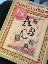 Alphabets & Ornaments Artwork for Scrapbooks & Fabric Transfer Crafts bonus Cd