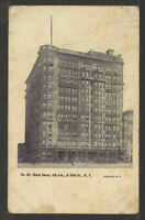 1907 HOTEL SAVOY 5th AVE & 59th ST NEW YORK NY POSTCARD STA D Postmark
