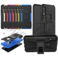 For Huawei Y7 Prime 2019 DUB-LX1 New Black Shock Proof Builder Stand Phone Case