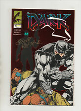 Dark #1 - Red Foil Cover Signed By Joseph Naftali - (Grade 9.2) 1993