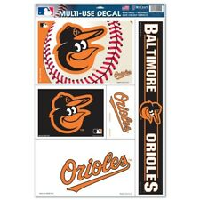 """BALTIMORE ORIOLES 5 PIECE MULTI-USE DECALS 11""""X17"""" SHEET WINDOWS BLOWOUT PRICE!"""