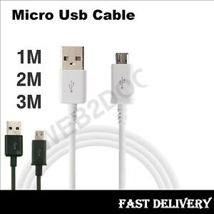 Extra Long 1M 2M 3M Micro USB Charging Cable for SamSung  S4 S5 Tab 3 Note 3 4