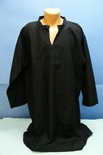 BLACK Thin GALABIYA Robe Teenager MAN YOUTH THOBE Daffah Jellaba Kameez L New