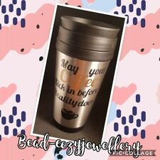 Personalised Stainless Steel Insulated Travel Coffee Mug Cup - tea, coffee,