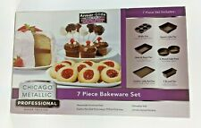 Chicago Metal 00003Cb6 lic Professional 7 Piece Bakeware Set Non Stick Dishwasher Safe