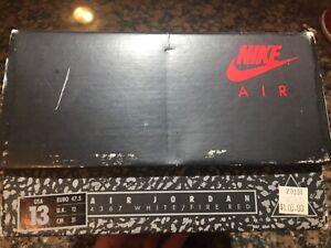 Air Jordan 1988 vintage shoe box fire red 3 size 13