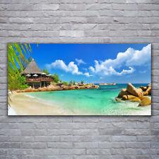 Acrylglasbilder Wandbilder aus Plexiglas® 120x60 Strand Meer Steine Landschaft