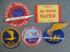 VINTAGE 1950s AIRLINE DECALS MARITIME CENTRAL, PACIFIC NORTHERN,SILA,SAS, NAPIER