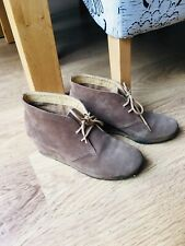 Clarks Originals Suede Wedge Shoe Boots, Size 6.